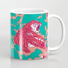 Scarlet tigers on lotus flower field. Coffee Mug