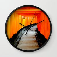 japan Wall Clocks featuring Japan by very giorgious