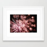 fireworks Framed Art Prints featuring Fireworks by For the easily distracted...