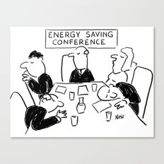 Energy Saving Conference Canvas Print