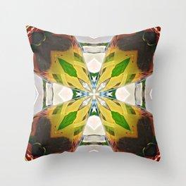 Mirrored Tea Leaves Throw Pillow