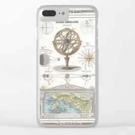 Uranographic and Cosmographic Chart (1852) Clear iPhone Case