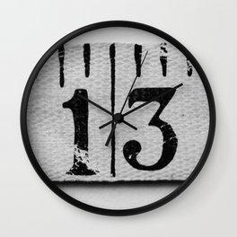 Unlucky 13 Wall Clock