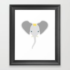 Grey Elephant Framed Art Print