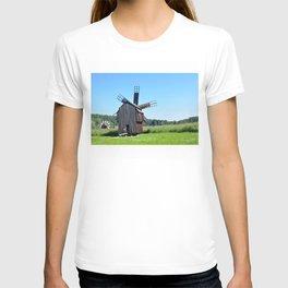 sibiu romania ethno museum wood wind mill T-shirt