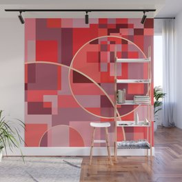 Abstract overlapping art Wall Mural