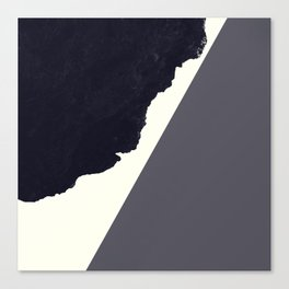 Contemporary Minimalistic Black and White Art Canvas Print