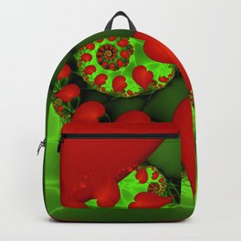 Dancing Red Hearts Fractal Art Backpack