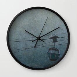 GONDOLA THROUGH THE RAIN Wall Clock