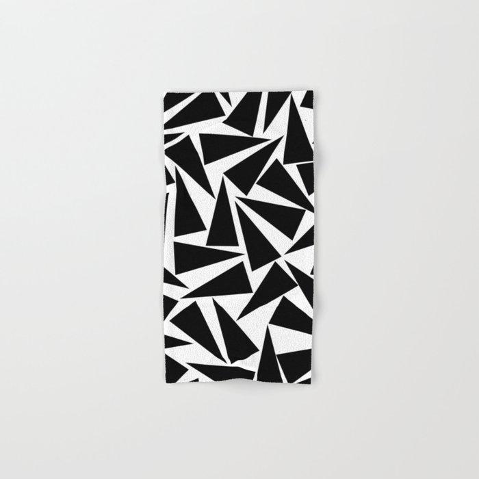 black triangle pattern Hand & Bath Towel