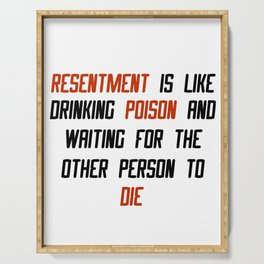 Carrie Fisher Resentment Quote Serving Tray