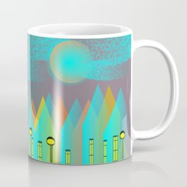 Terraced houses in Turquoise - by Matilda Lorentsson Coffee Mug