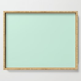 Dunn and Edwards 2019 Curated Colors Pale Cactus (Pastel Green) DE5673 Solid Color Serving Tray