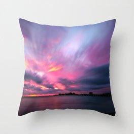 Dramatic Sunset at Anse Vata Bay, Noumea, New Caledonia Throw Pillow