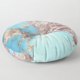 Rugged Turquoise Nugget Floor Pillow