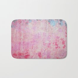 abstract vintage wall texture - pink retro style background Bath Mat