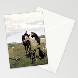 retro on leave Stationery Cards