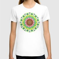 lime green T-shirts featuring Lime Green Citrus Abstract by Phil Perkins