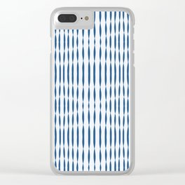 Blue Wavelengths Clear iPhone Case