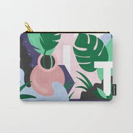 Ferns and Letters Carry-All Pouch