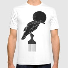The Black Crow MEDIUM Mens Fitted Tee White