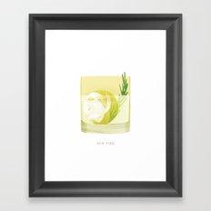 Cocktail Hour: Gin Fizz Framed Art Print