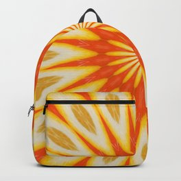 Simply Citrus  Lemon Slices Floral Pattern Kaleidoscope Backpack