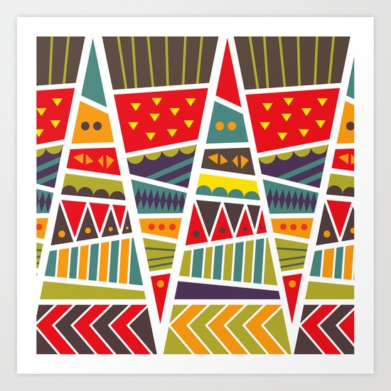 pyramids up and down Art Print