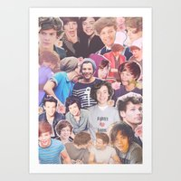 larry stylinson Art Prints featuring Harry and Louis - Larry Stylinson by Troy Abed