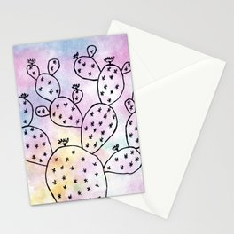 Cacti watching the magic pastel sky Stationery Cards