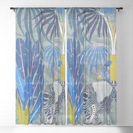 Elephant fantasy Sheer Curtain
