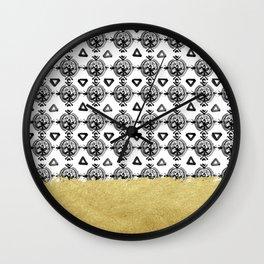Black Gold Boho VI Wall Clock