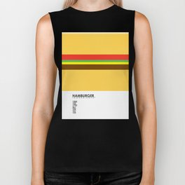 Pantone Food - Hamburger Biker Tank