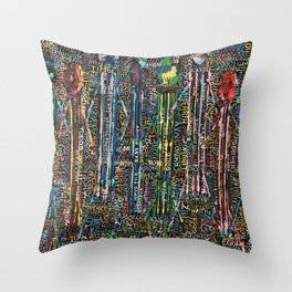 Awakening, people and words Throw Pillow