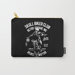 SKULL BIKER CLUB Carry-All Pouch