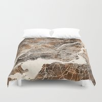 montreal Duvet Covers featuring Montreal by Map Map Maps