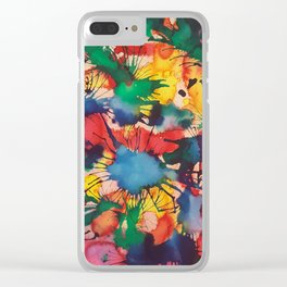 Rainbow Splash Clear iPhone Case