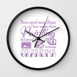 Painting Grandma Wall Clock