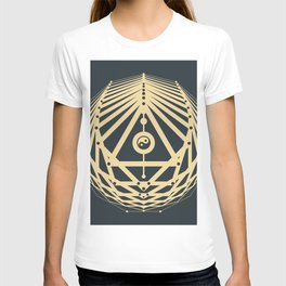 Radiant Abundance (grey-gold) T-shirt