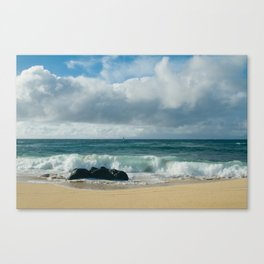 Hookipa Beach Pacific Ocean Waves Maui Hawaii Canvas Print