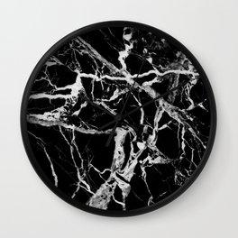 Black marble pattern Wall Clock