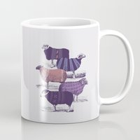 sweater Mugs featuring Cool Sweaters by Jacques Maes