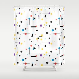 Abstract seamless pattern like Kandinsky Shower Curtain