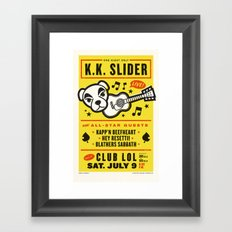 Slip Slidin' Away Framed Art Print