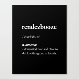 Rendezbooze black and white contemporary minimalism typography design home wall decor black-white Canvas Print