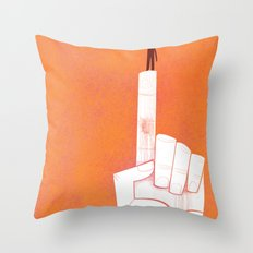 the point is my heart Throw Pillow