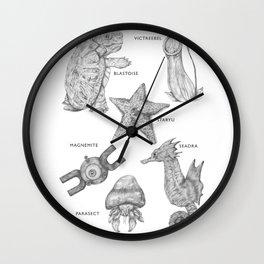 Species of Pocket Monsters Wall Clock