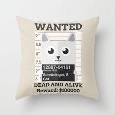 Schrödingers Cat Throw Pillow