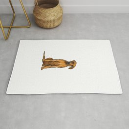 Funny My Rhodesian Ridgeback Is Calling And i Must Go Dog T-Shirt Rug