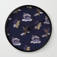 hawaii Wall Clocks featuring hawaii by ulas okuyucu